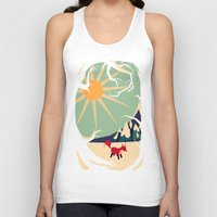 michael clifford Tank Tops featuring Fox roaming around II by Yetiland