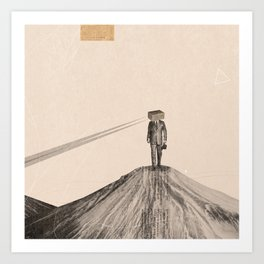 Walking Man Art Print