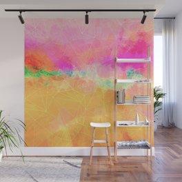 Modern Pastel Rainbow Cascade Abstract Wall Mural