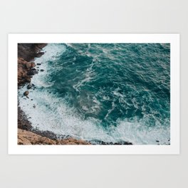 Strong tide Art Print