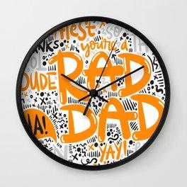 Fathersday dad Wall Clock