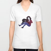 marceline V-neck T-shirts featuring Marceline by ribkaDory