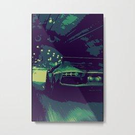 Sport car Lamb in tunnel  Metal Print