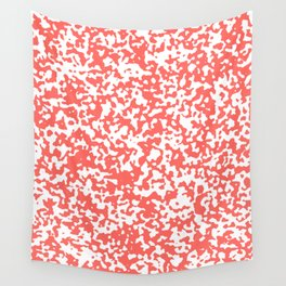 Small Spots - White and Pastel Red Wall Tapestry