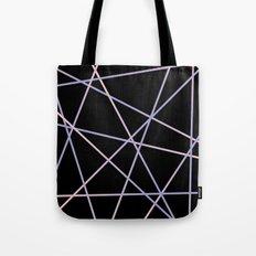 Rose Quartz & Serenity on Black Tote Bag