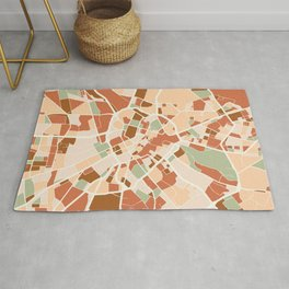 MANCHESTER ENGLAND CITY MAP EARTH TONES Rug