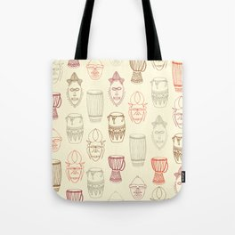 African drums and masks Tote Bag