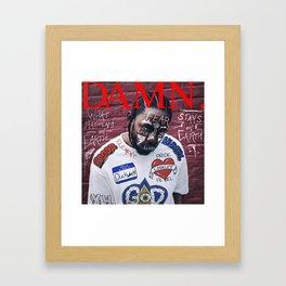 Kendrick Lamar - DAMN. Alternate Album Artwork Cover Framed Art Print