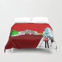 general Duvet Covers featuring General Public by bivisual