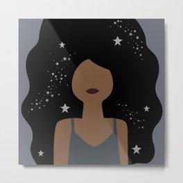 Stars in her hair Metal Print