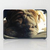 hercules iPad Cases featuring Sleeping Hercules by Jordan Zuelsdorf