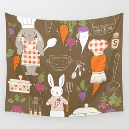 Rabbit Chef Wall Tapestry
