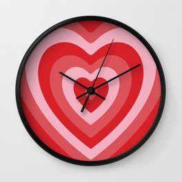 Hypnotic Hearts Wall Clock