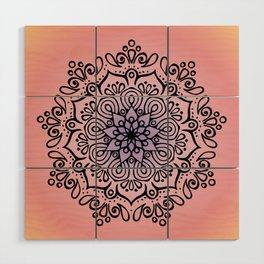 Baesic Sunset Traquil Mandala Wood Wall Art