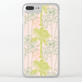 Palm Tree Play Clear iPhone Case