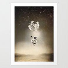 Desert & space Art Print