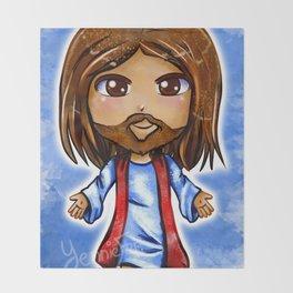 Jesus Christ Chibi Throw Blanket