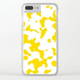 Large Spots - White and Gold Yellow Clear iPhone Case