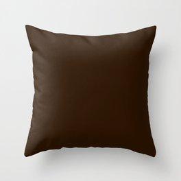 4d301a .Dark chocolate Throw Pillow
