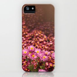 Colorful Pink Flowers iPhone Case