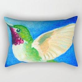 Colorful Hummingbird Rectangular Pillow
