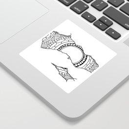 Ripped Mandala Sticker