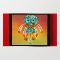 dreamcatcher Area & Throw Rugs featuring Dreamcatcher by Ganech joe
