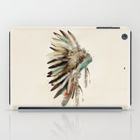 headdress iPad Cases featuring headdress by bri.buckley