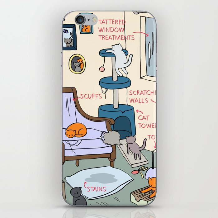 Cat Lady's Home iPhone Skin