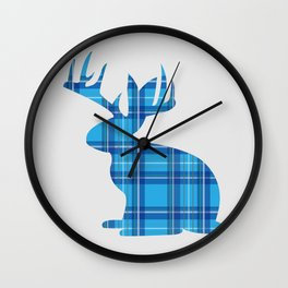 Lumberjackalope (Light Blue) Wall Clock