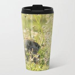 Hoary Marmot's Peek at Paradise Metal Travel Mug