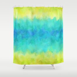 Sunflower and Ice Abstract Shower Curtain