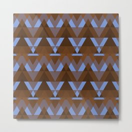 Geometric - Earth and Water Metal Print