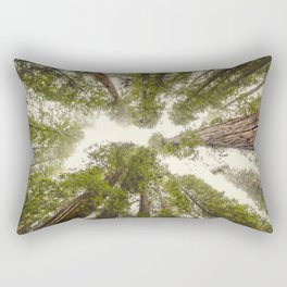 Into the Mist - Nature Photography Rectangular Pillow
