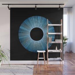 Blue Iris Abstract Universe Art Wall Mural