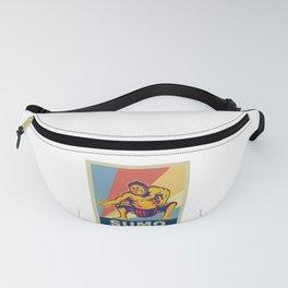 Vintage Retro Sumo Wrestler Sumo Gift Novelty Gift Fanny Pack