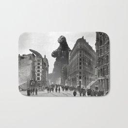 Old Time Godzilla in San Francisco Bath Mat
