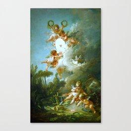 """François Boucher """"Cupid's Target"""" Canvas Print"""
