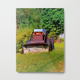 Old abandoned snow removing vehicle Metal Print