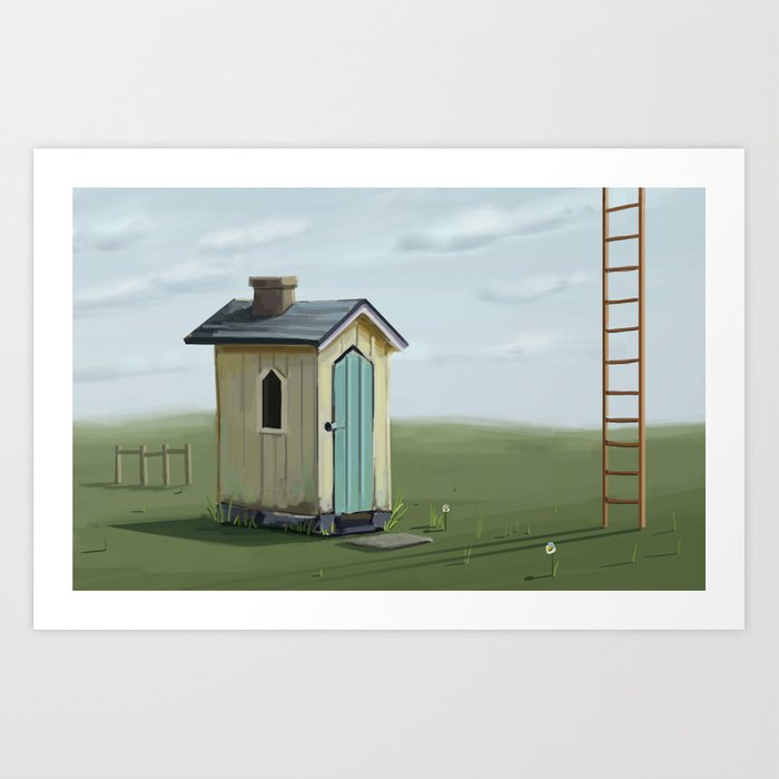 sky ladder Art Print