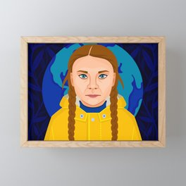 Greta Thunberg Framed Mini Art Print