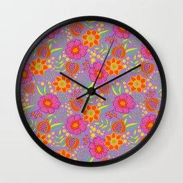 Floral Nuevo Wall Clock