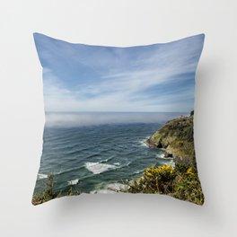 Sea Lion Caves Along the Oregon Coast Throw Pillow