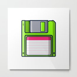 Retro - diskette Metal Print