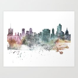 Tulsa Nature Pastels Skyline Art Print