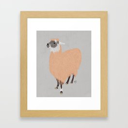 Daphne the Llama Framed Art Print