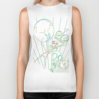 invader zim Biker Tanks featuring invader zim by jjb505