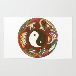 Vintage Psychedelic Turtle Yin Yang Rug