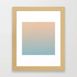 HALF MOON - Minimal Plain Soft Mood Color Blend Prints Framed Art Print
