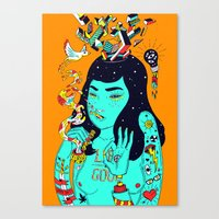 trip Canvas Prints featuring Trip by Jefowley